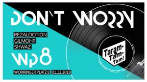 Taramtamtam - Don't Worry Veranstaltungs Banner 01.12.2018